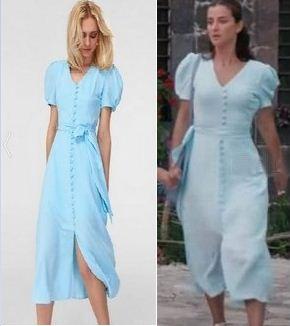 Sen Anlat Karadeniz Nefes mavi elbise
