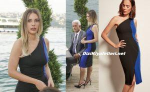 Yasak Elma Yıldız Mavi siyah elbise