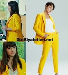 Yasak Elma Zeynep Sarı Ceket