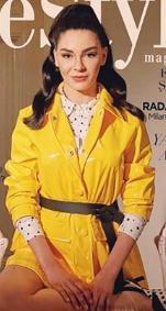 Ebru Şahin Ceket markası Benetton