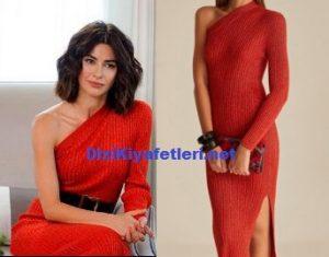 Nesrin Cavadzade kırmızı elbise