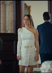 Çocuk Şule beyaz tek kol elbise markası
