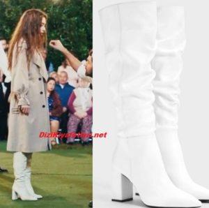 Sefirin Kızı Neslihan Atagül beyaz çizme markası