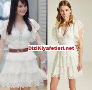 Mucize Doktor Nazlı beyaz elbisesi