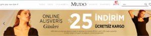 Mudo online indirim kampanyası