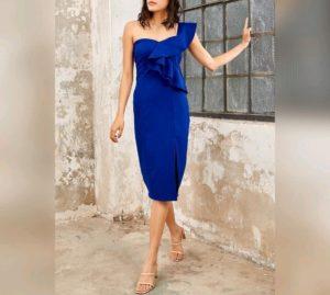 Çatı Katı Aşk Gülriz mavi elbisesi