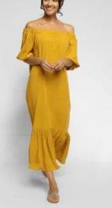 Çatı Katı Aşk Süheyla uzun sarı elbisesi