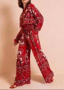 Çatı Katı Aşk Yasemin kırmızı pantolon markası