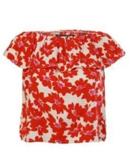 Cati Kati Ask Yasemin cicekli kırmızı bluzu
