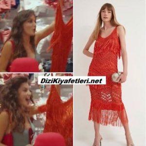 Sen Çal Kapımı Hande kırmızı elbisesi