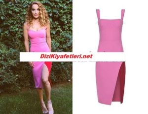 Fatma Toptaş Pembe elbise markası