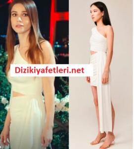 Bay Yanlış Ezgi beyaz elbisesi
