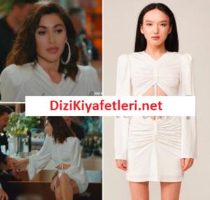 Yasak Elma Şahika beyaz elbisesi