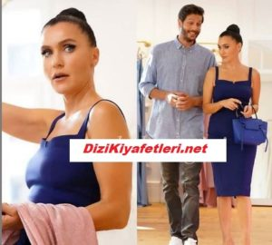 Yasak Elma Ender mavi elbisesi