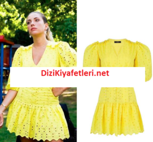 Yasak Elma Yıldız Sarı elbisesi