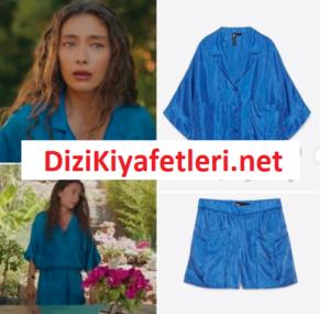 Yasak Elma Zara mavi şortu