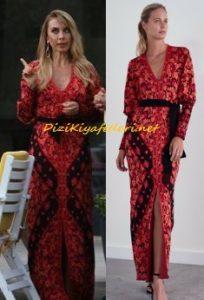 Aydan Polat kırmızı elbise