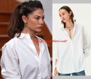 Demet Özdemir beyaz gömlek