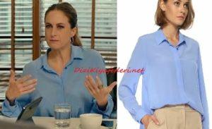 Menajerimi Ara dizisi Feris mavi gömlek