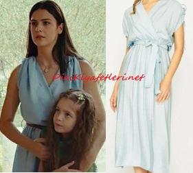 Sefirin Kızı Zehra mavi elbise