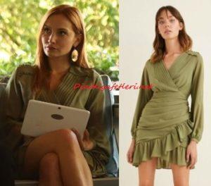 Sen Çal Kapımı Pırıl yeşil elbise