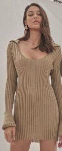 Dilan Çiçek kahverengi elbise