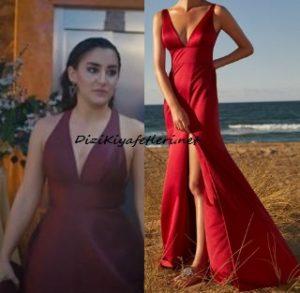 Doğduğun Ev Kaderindir Emine kırmızı elbise