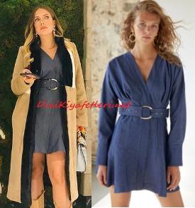 Yasak Elma Yıldız mavi elbise