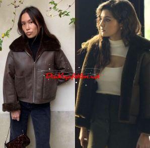 Hande Erçel kahverengi ceket