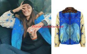 Hande Erçel mavi ceket