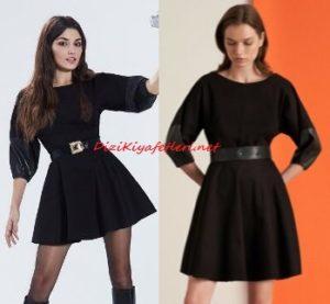 Hande Erçel siyah elbise