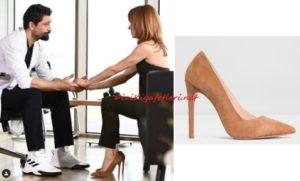Mucize Doktor Beliz kahverengi topuklu ayakkabı