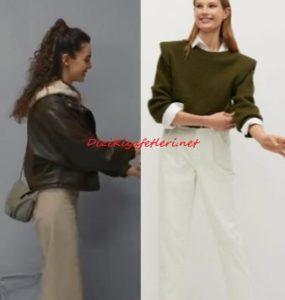 Son Yaz dizisi Yağmur kahverengi ceket