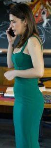 Baraj dizisi Nehir yeşil elbise