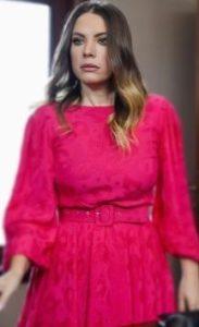 Yasak Elma Yıldız pembe elbise